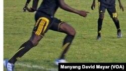 Des joueurs soudanais de'Al-Nasir FC