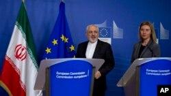 محمدجواد ظریف و فدریکا موگرینی بعد از دیدار روز سه شنبه