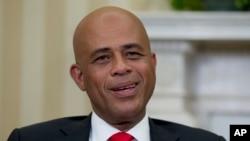 Prezidan ayisyen an, Michel Martelly, foto achiv (VOA)