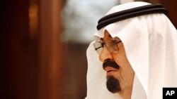 FILE - Saudi King Abdullah