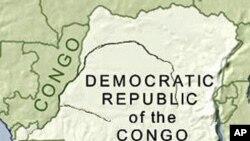 Ramani ya Jamhuri ya Kidemokrasia ya Congo, DRC.