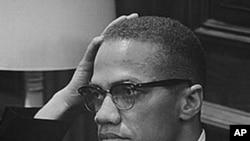 Black Muslim leader Malcolm X (El-Hajj Malik El-Shabazz), 26 March 1964, waiting for a press conference at an unknown location