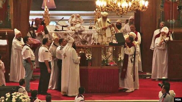 Pemberkatan Natal di gereja di Mesir. (Foto: Dok)