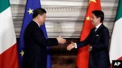 Çin prezidenti Şi Tsinpin və İtaliyanın baş naziri Cuzeppe Konte