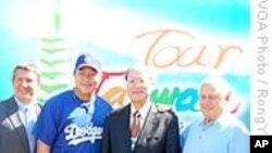 美国道奇棒球场为投手郭泓志举办台湾日活动
