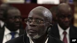 几内亚比绍总统马拉姆·萨尼亚2011年6月30日在赤道几内亚