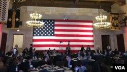 美国商会2018年4月10日在其总部大楼内举办一场活动。(美国之音林枫拍摄)