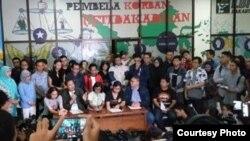 Koalisi masyarakat sipil menggelar konferensi pers di Gedung YLBHI, Jakarta, Kamis (7/3). (Foto: YLBHI)