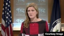 美国常驻联合国代表萨曼莎·鲍尔(资料照片)