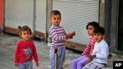 在土耳其的叙利亚难民儿童