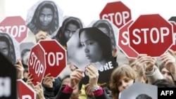 Демонстрация против насилия над женщинами