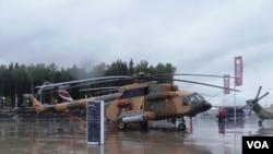越南军方有意购买米-17V-5,米-38等型号直升机。2015年莫斯科武器展上展出的米-17V-5型直升机。