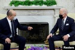 以色列總理貝內特與美國總統拜登在白宮舉行會晤。 (2021年8月2日)