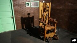 Une chaise électrique dans une prison au Texas, le 16 mai 2013.