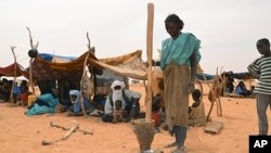 A woman prepares a mealat a Malian refugees camp in Chinegodar, western Niger, close to the Malian border, February 4, 2012.