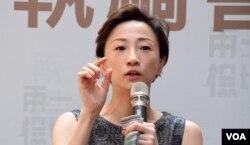 香港一地兩檢關注組召集人陳淑莊。(美國之音湯惠芸)