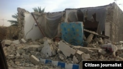 Nhà cửa đổ nát trong trận động đất ở miền nam Iran 9/4/13