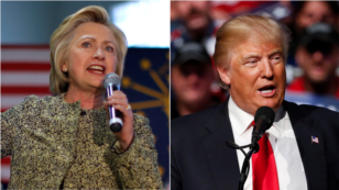 U.S. presidential candidates Hillary Clinton, left, and Donald Trump are seen in file photos.