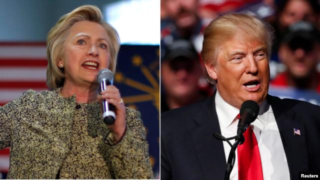 Ứng cử viên tổng thống Hillary Clinton (trái) và Donald Trump.