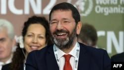 Rome's Mayor Ignazio Marino attends a conference in Rome, Nov.19, 2014.