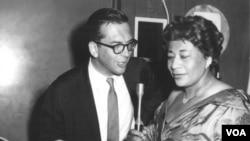 Willis Conover with Ella Fitzgerald
