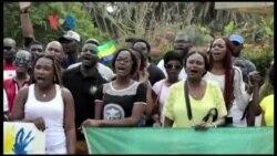 Manifestation des Gabonais à Rabat