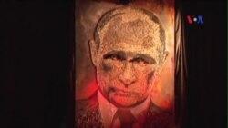 Nghệ sĩ Ukraina và tác phẩm độc đáo về gương mặt ông Putin