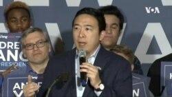 美國民主黨總統參選人楊安澤退選