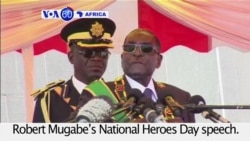 VOA60 Africa - Zimbabwean War Veterans Association boycott President Mugabe's speech