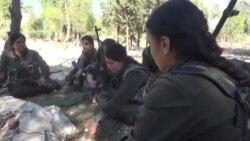 Женщины-бойцы курдских сил самообороны