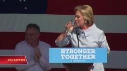 Bà Clinton không vận động ở California sau khi có chẩn đoán viêm phổi