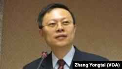 台湾陆委会主委王郁琦(资料照片) (美国之音张永泰拍摄)