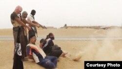 دیدبان حقوق بشر سوریه گزارش می دهد که دو کودک در میان ۱۹ غیر نظامی است که توسط تندروان داعش اعدام شدند