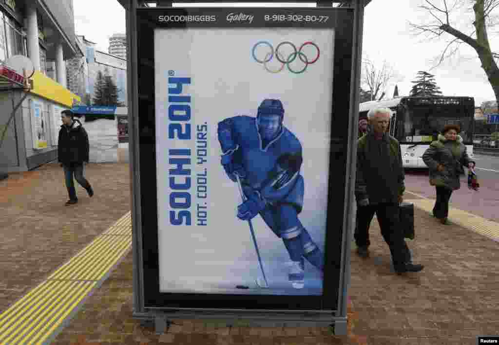 تبلیغ مسابقات المپیک زمستانی سوچی در روسیه، فوریه ۲۰۱۴
