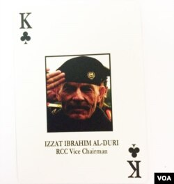 """King of Clubs"" from deck of Iraqi Most Wanted (Photo: S. Redisch / VOA)"