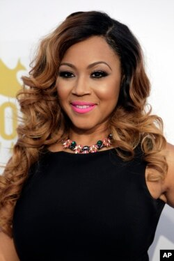 Erica Campbell is seen at the 46th Annual GMA Dove Awards at Lipscomb University on October 13, 2015, in Nashville, Tenn.