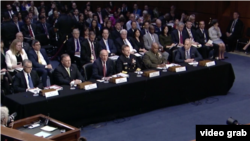 美国六大情报机构主管2017年5月11日在国会作证 (美国国会视频截图)