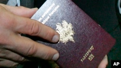 FILE - French passport.
