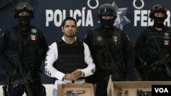 Jose Antonio Acosta Hernandez, pemimpin kelompok pembunuh yang digaji oleh kartel obat bius gelap berhasil ditangkap polisi Meksiko (31/7).