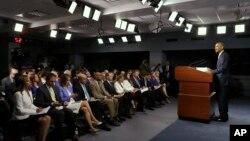 Выступление президента Обамы в Пентагоне