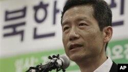 올 초 중국에서 구금됐다 풀려난 북한인권운동가 김영환 씨. (자료 사진)