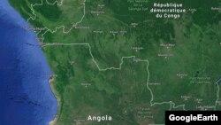 La frontière entre la RDC et l'Angola.
