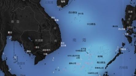 南海诸岛分布图(维基共享)。