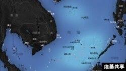 南中国海诸岛分布图(维基共享)