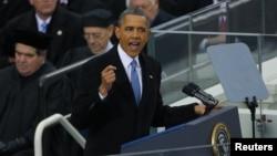 奧巴馬發表就職演說