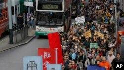 Một cuộc biểu tình phản đối chính quyền Hong Kong đàn áp chính trị, 1/1/2019