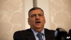 ریاض حجاب رئیس «کمیته عالی مذاکرات» سوریه؛ گروه عمده مخالف دولت بشار اسد، که مورد حمایت عربستان سعودی است - آرشیو