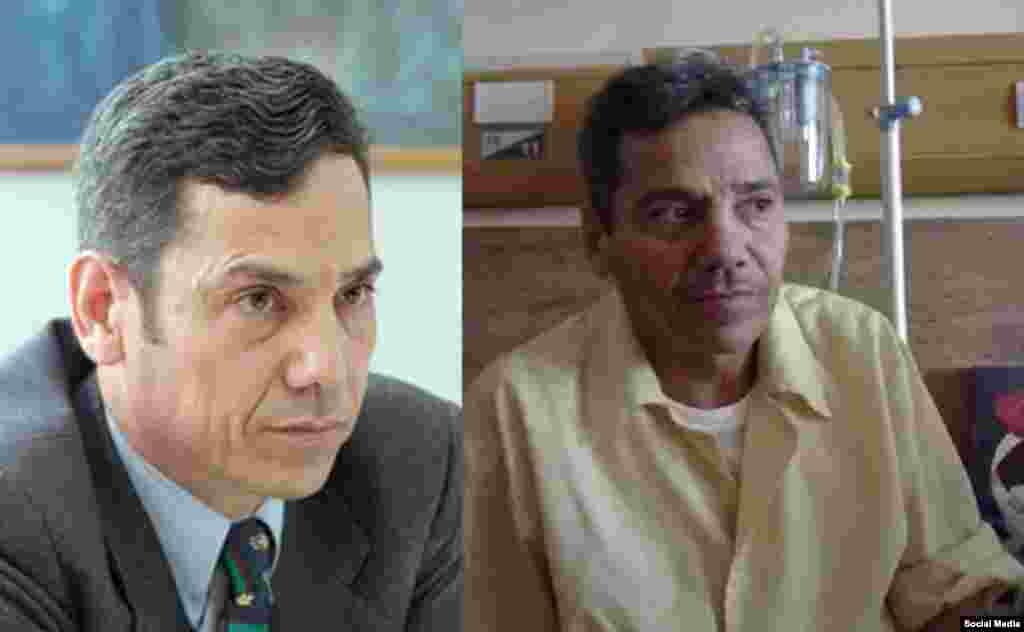 خانواده عبدالفتاح سلطانی وکیل دادگستری می گویند به وضعیت جسمی او رسیدگی نمی شود. با اینکه دو سه زندانی در هفته گذشته آزاد شدند اما به رغم وضعیت جسمی بد آقای سلطانی، مسئولان با مرخصی او موافقت نمی کنند. عکس او را قبل بعد از یکی از مرخصی ها از زندان می بینید.