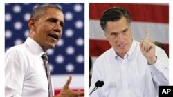 美國兩黨總統候選人﹕奧巴馬與羅姆尼