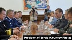 Razgovor Toda Daniljela Voltersa i Aleksandra Vučića (Foto: Predsedništvo Srbije)